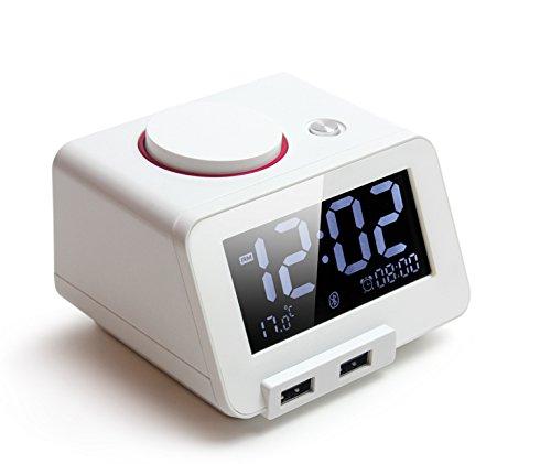 Homtime C1-PRO Digitaler Wecker mit Bluetooth Lautsprecher
