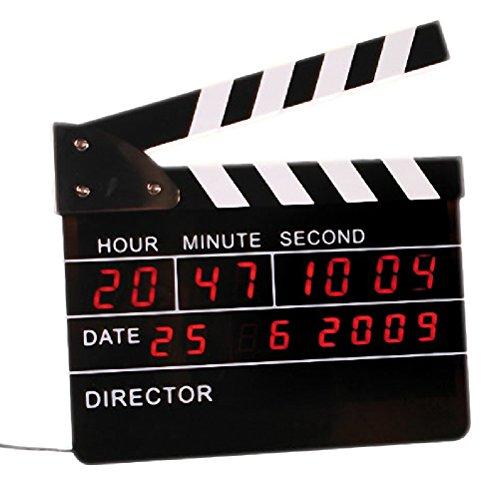 Digitaler Wecker LED Regieklappe Filmklappe